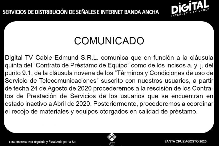 RESCICION CONTRATOS - COMUNICADO AGOSTO_2